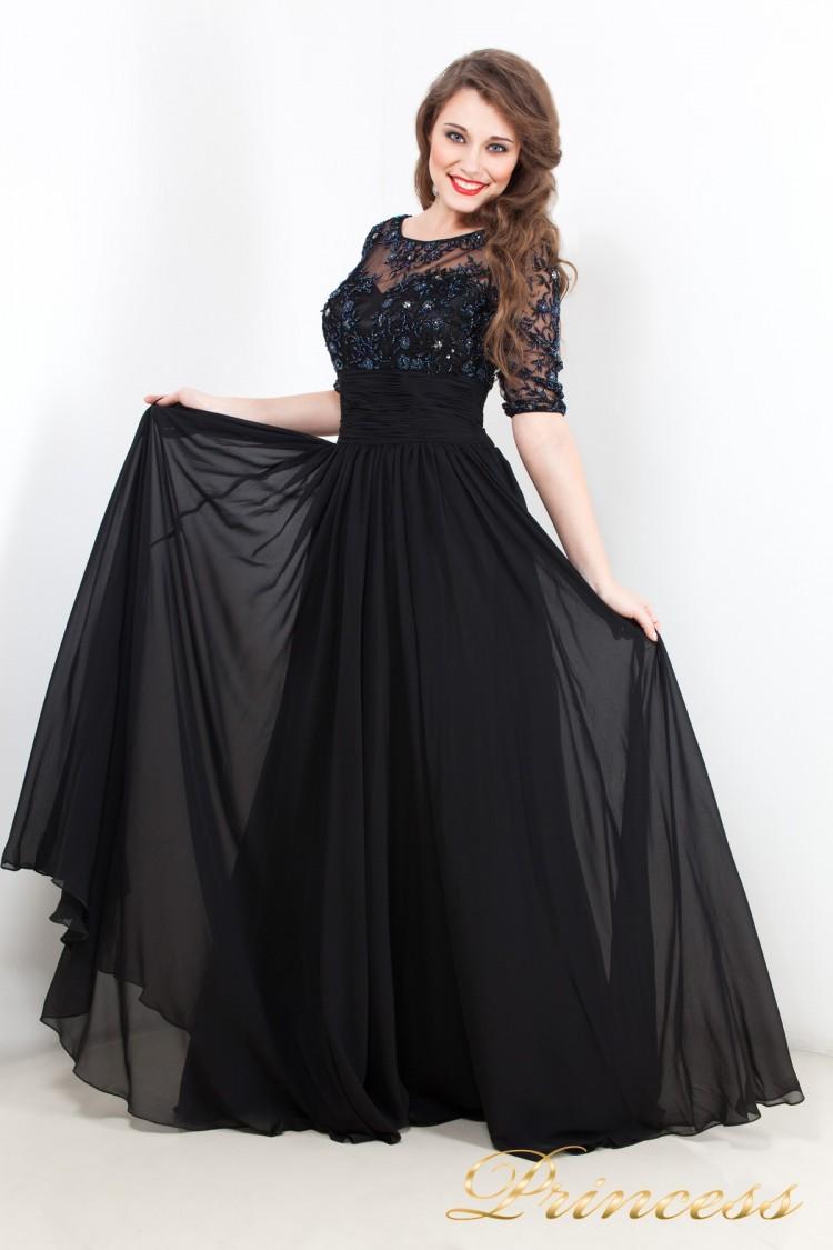 Вечернее платье 8999 чёрного цвета