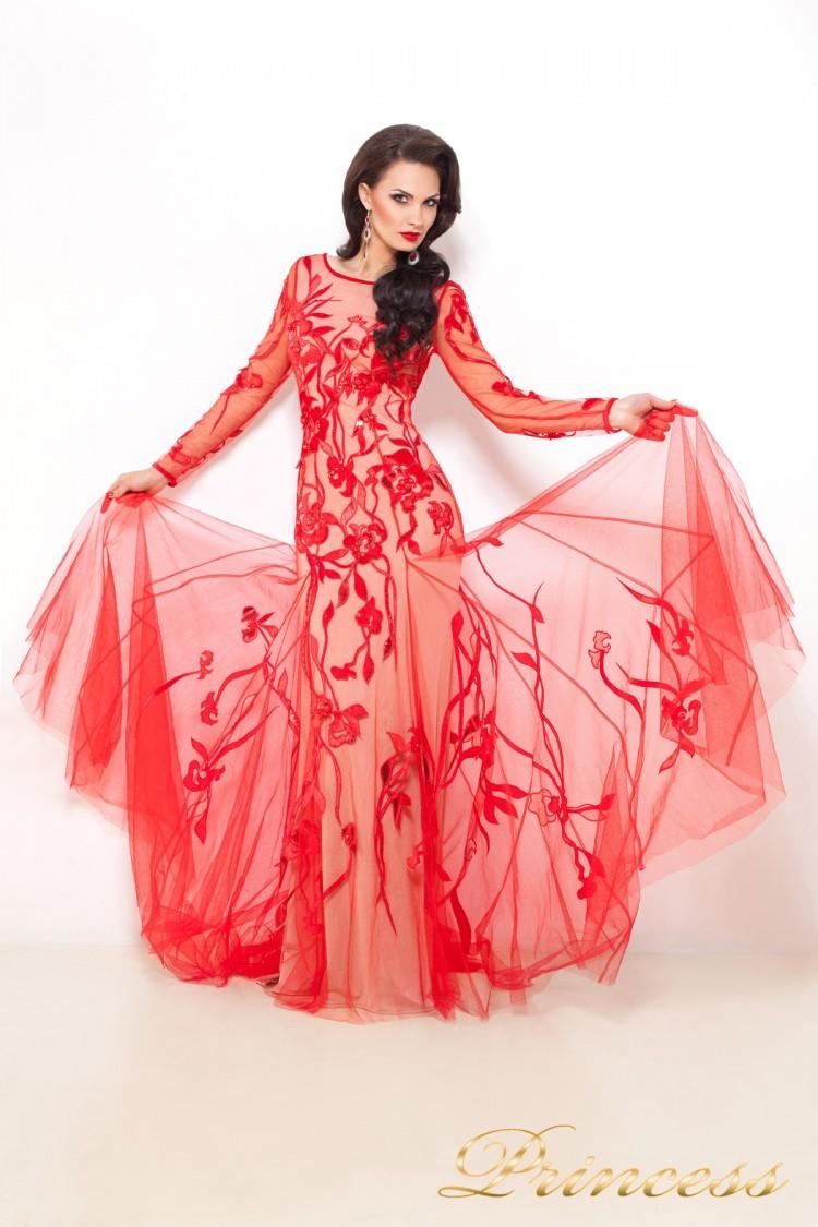 Вечернее платье 9007 красного цвета