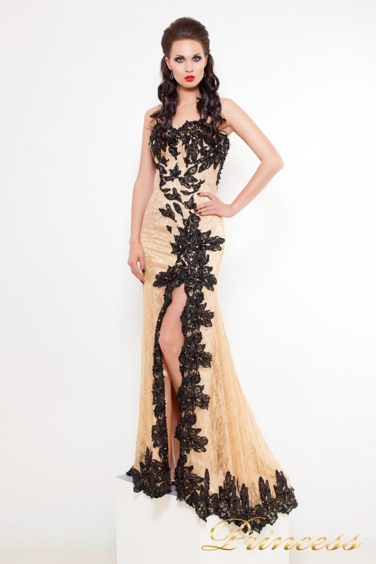 Вечернее платье 9008N чёрного цвета