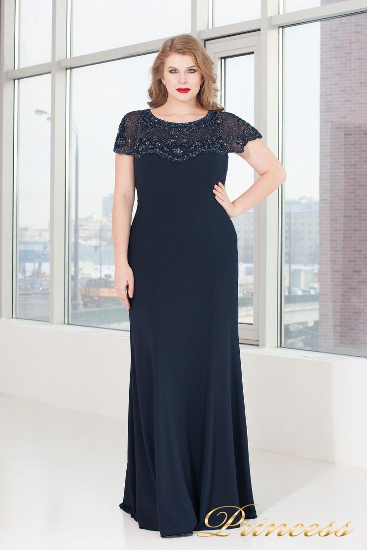 Вечерне платье 902 navy синего цвета