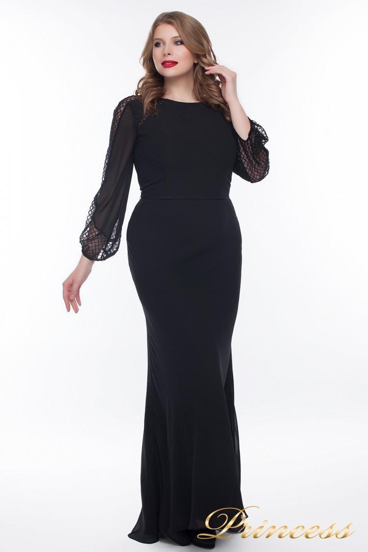 Вечернее платье 906_black чёрного цвета