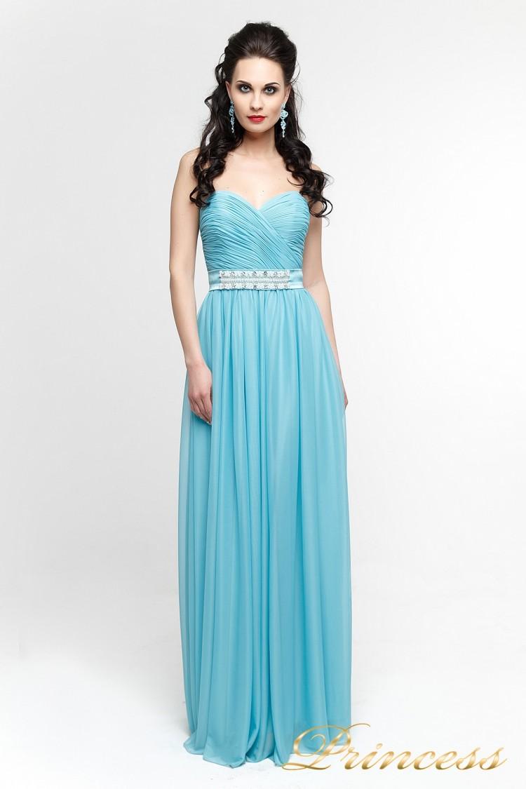Вечернее платье 90975B голубого цвета