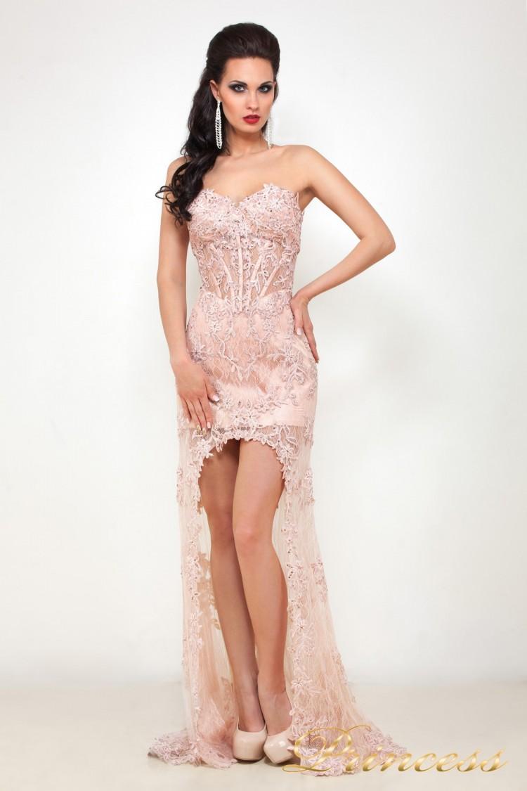 Вечернее платье 92545 розового цвета