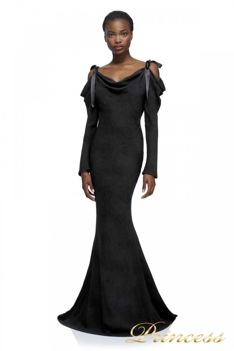 Вечернее платье AXX17589L BLACK 1 чёрного цвета