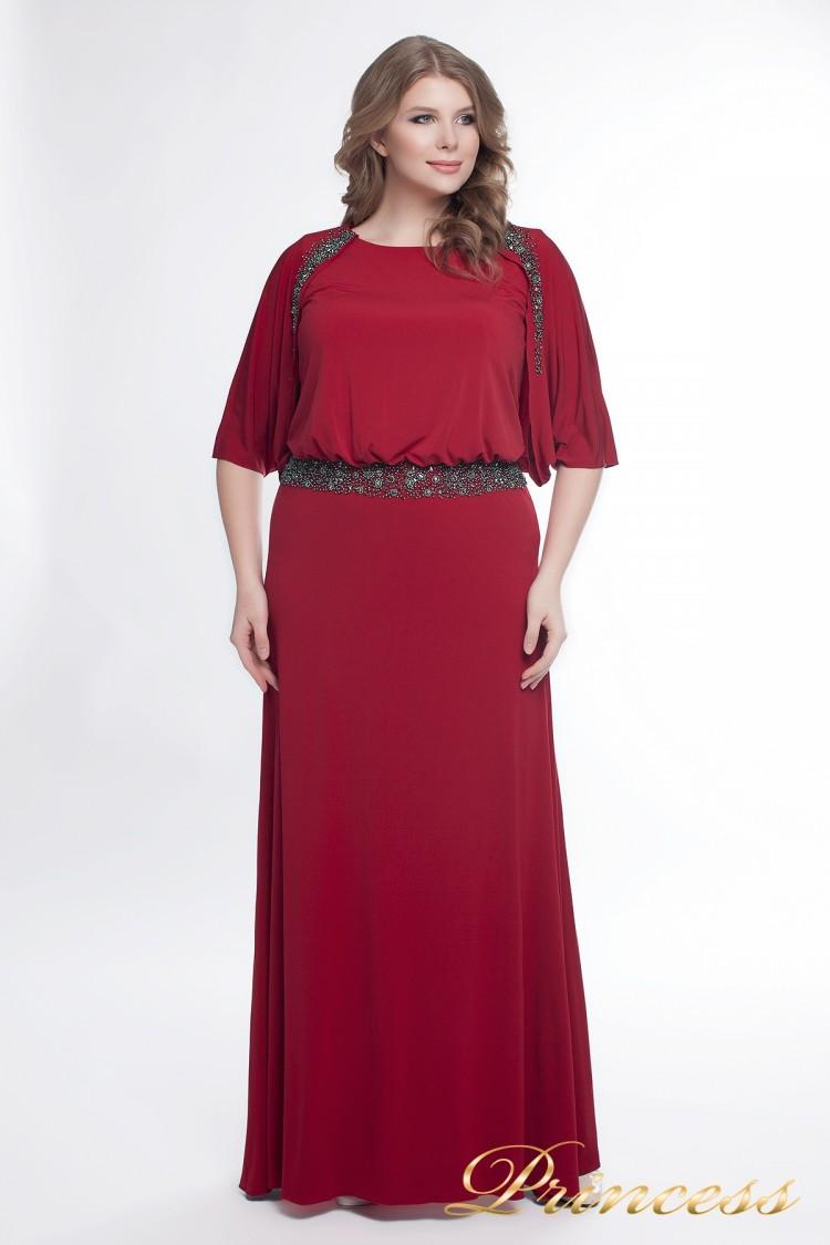 Вечернее платье 950_red красного цвета