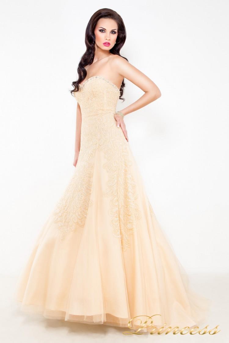 Свадебное платье 96116B кремового цвета