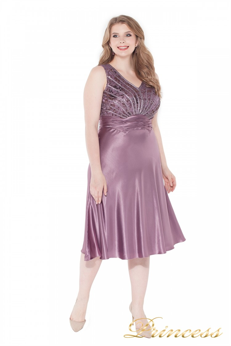 Вечернее платье 9810 pink сиреневого цвета