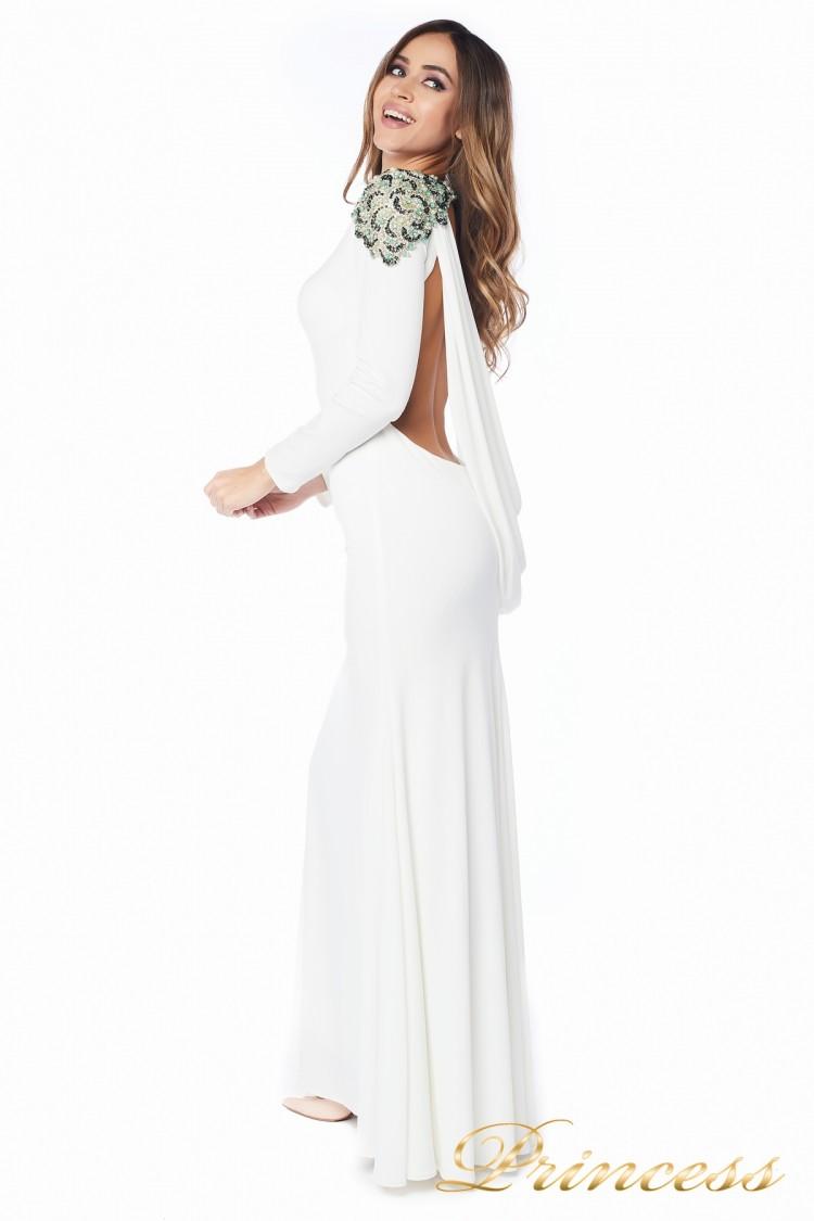 Вечернее платье 98498 white пастельного цвета