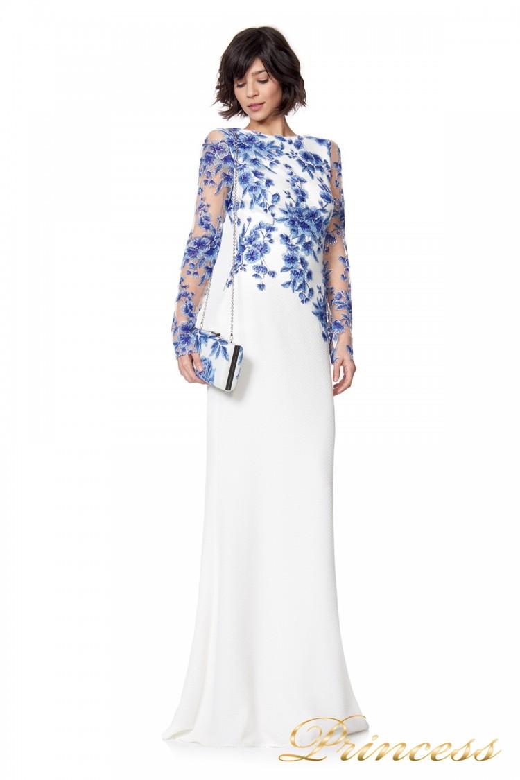 Вечернее платье ATH16206LXY white цветочного цвета