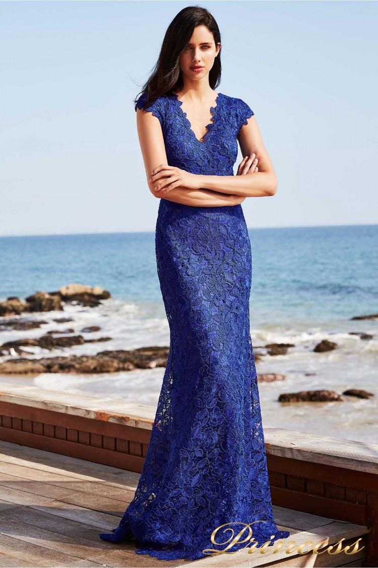 Вечернее платье BBD 1191LZ INDIGO FLORAL цвета электрик