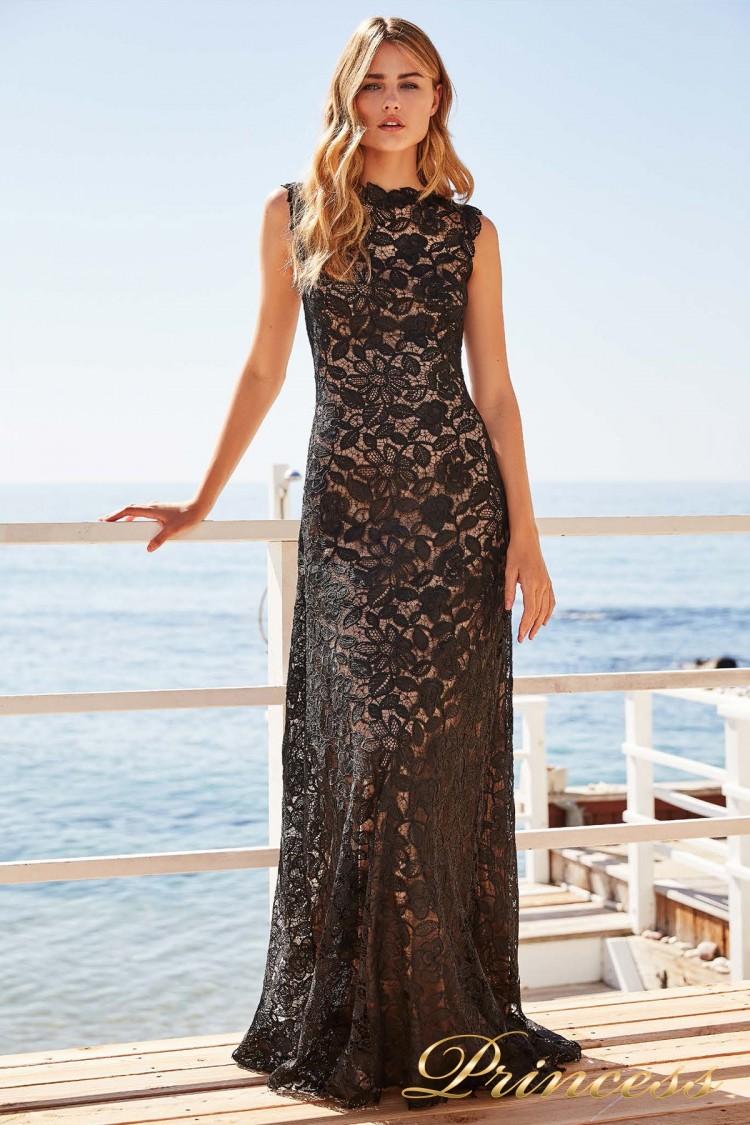 Вечернее платье BBD 17390L BLACK-NUDE чёрного цвета
