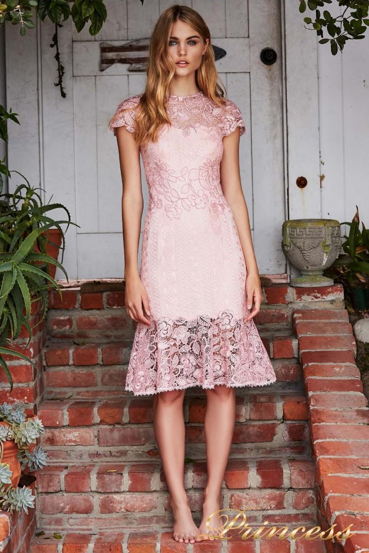 Вечернее платье BBD 18556M ROSE розового цвета