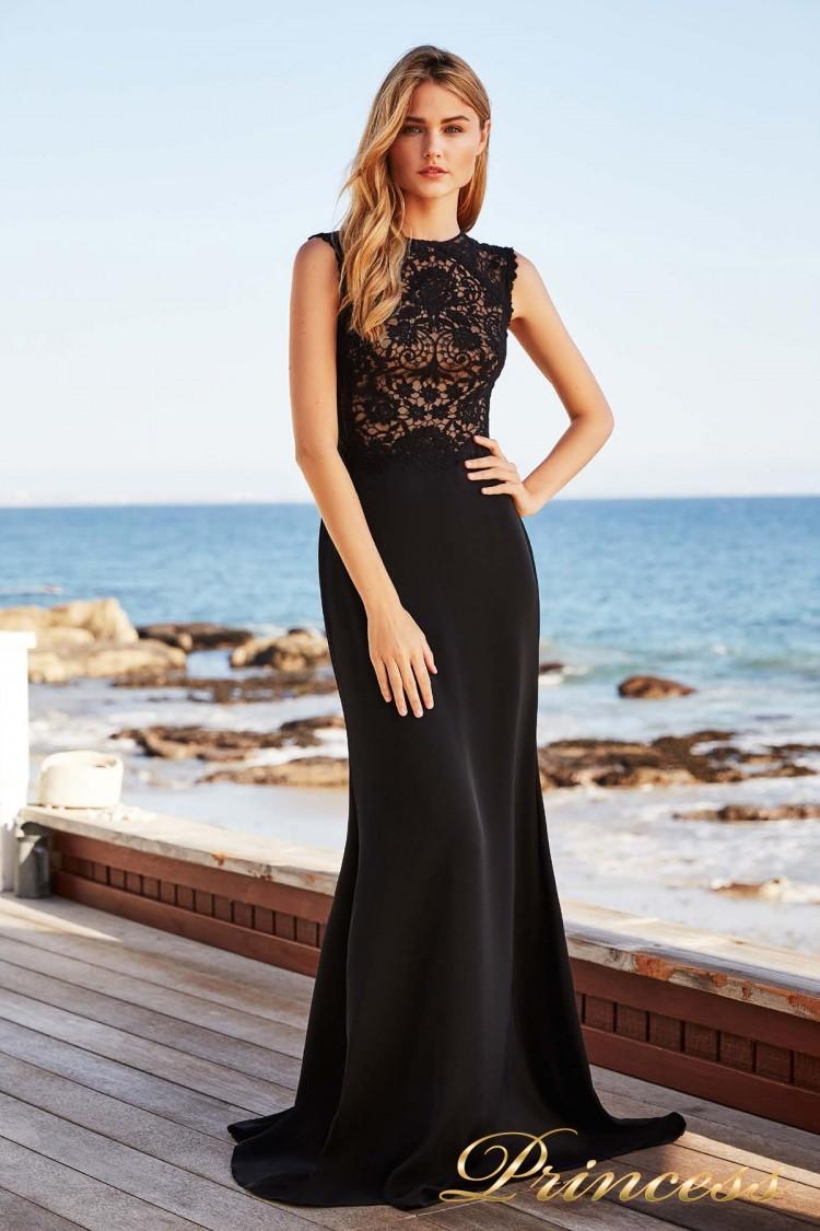 Вечернее платье BBH 18142L BLACK-NUDE . Цвет