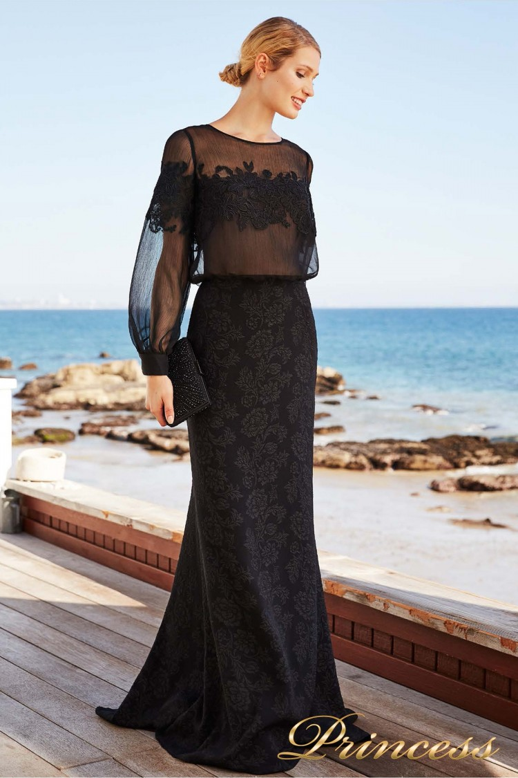 Вечернее платье BCD 18399L BLACK чёрного цвета