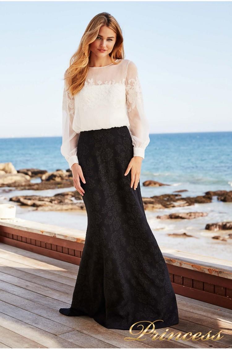 Вечернее платье BCD 18399L WHITE-BLACK чёрно-белого цвета