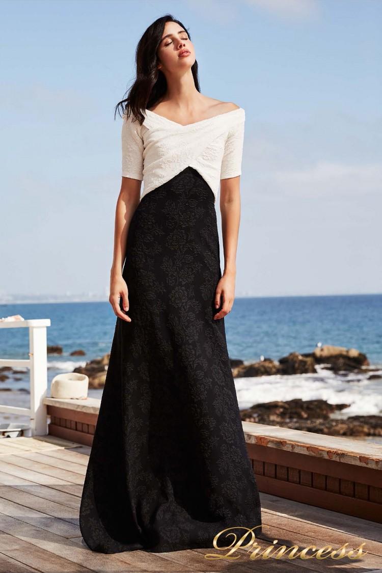 Вечернее платье BCD 18603LX WHITE-BLACK чёрного цвета