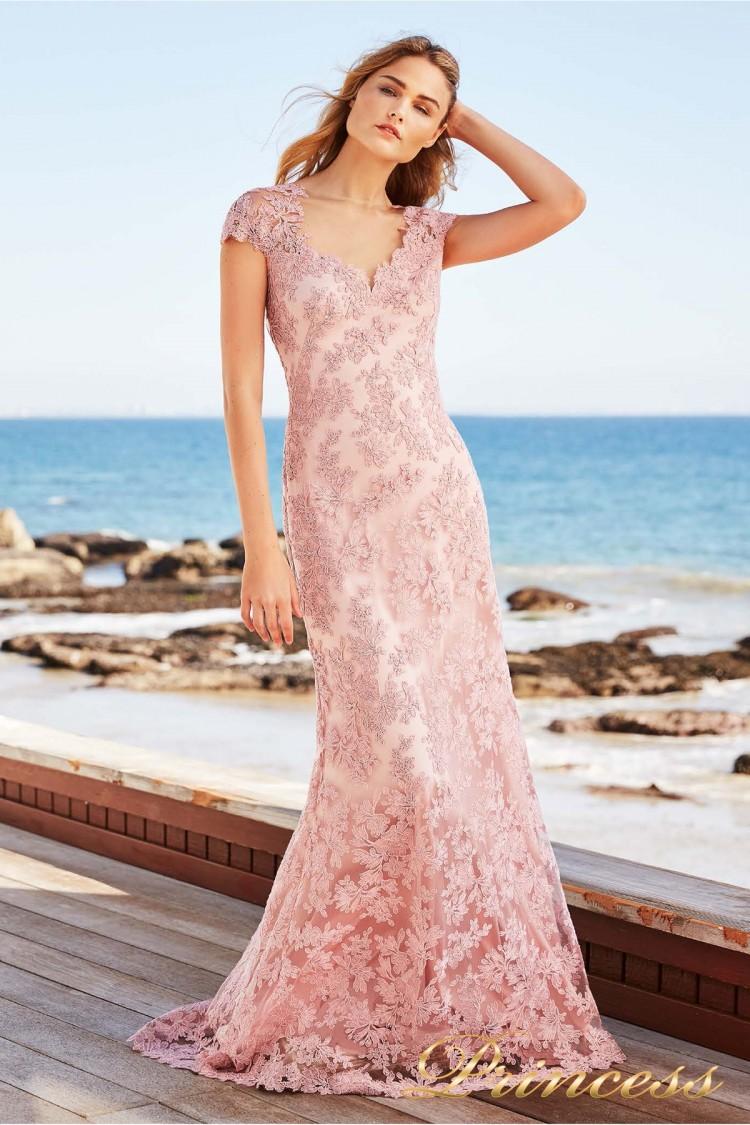 Вечернее платье Tadashi Shoji BCS18077LA розового цвета
