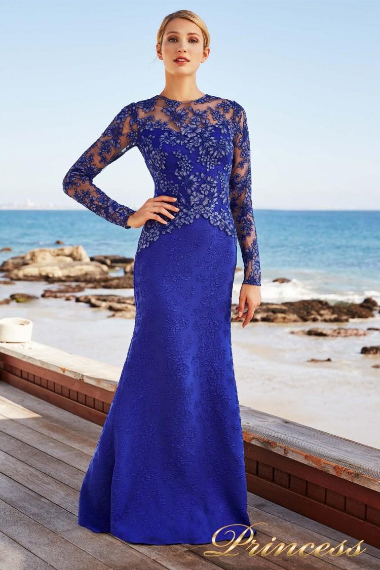 Вечернее платье BCS 17819 LXA BLUE LILY FLORAL цвета электрик