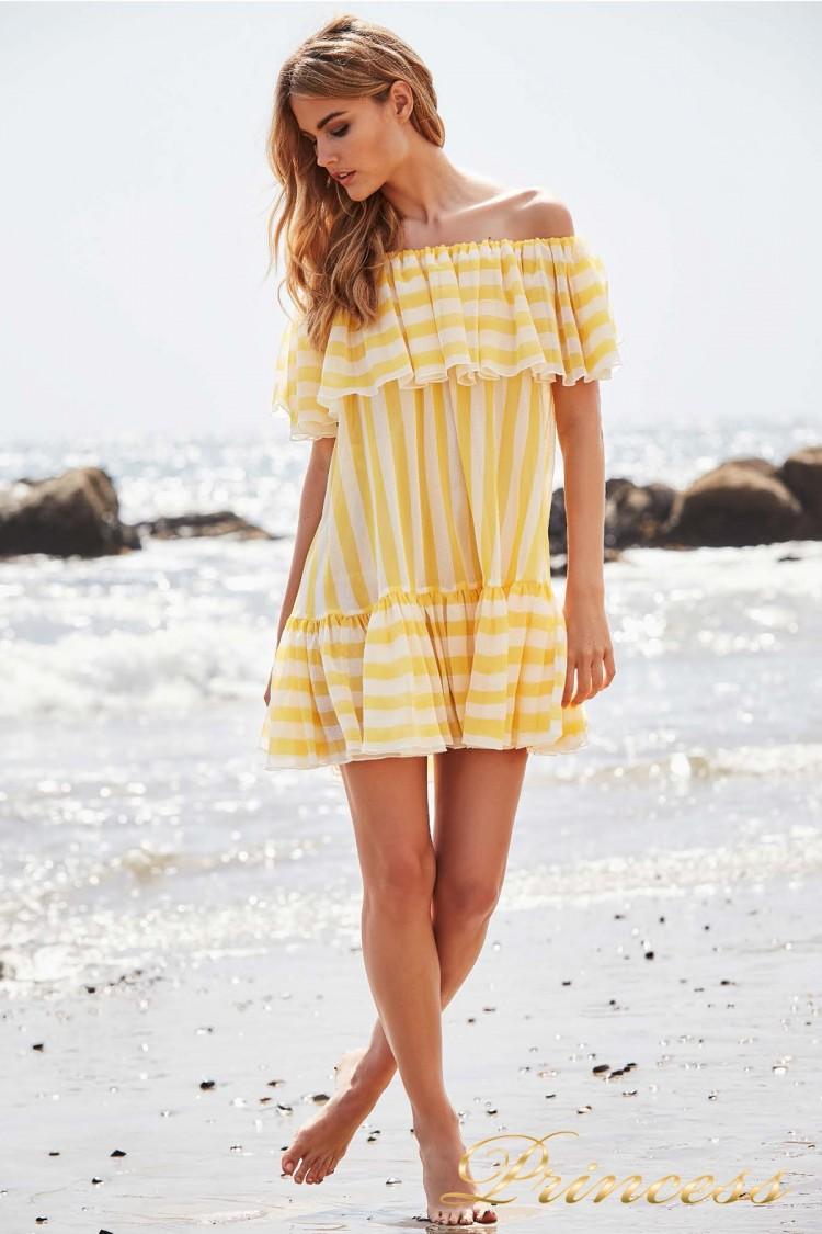 Вечернее платье BCZ 18602M YELLOW OPAL желтого цвета