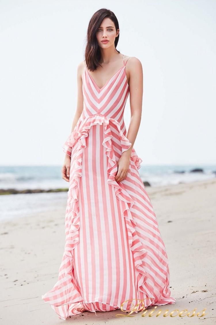Вечернее платье BCZ 18647L DAHLIA розового цвета