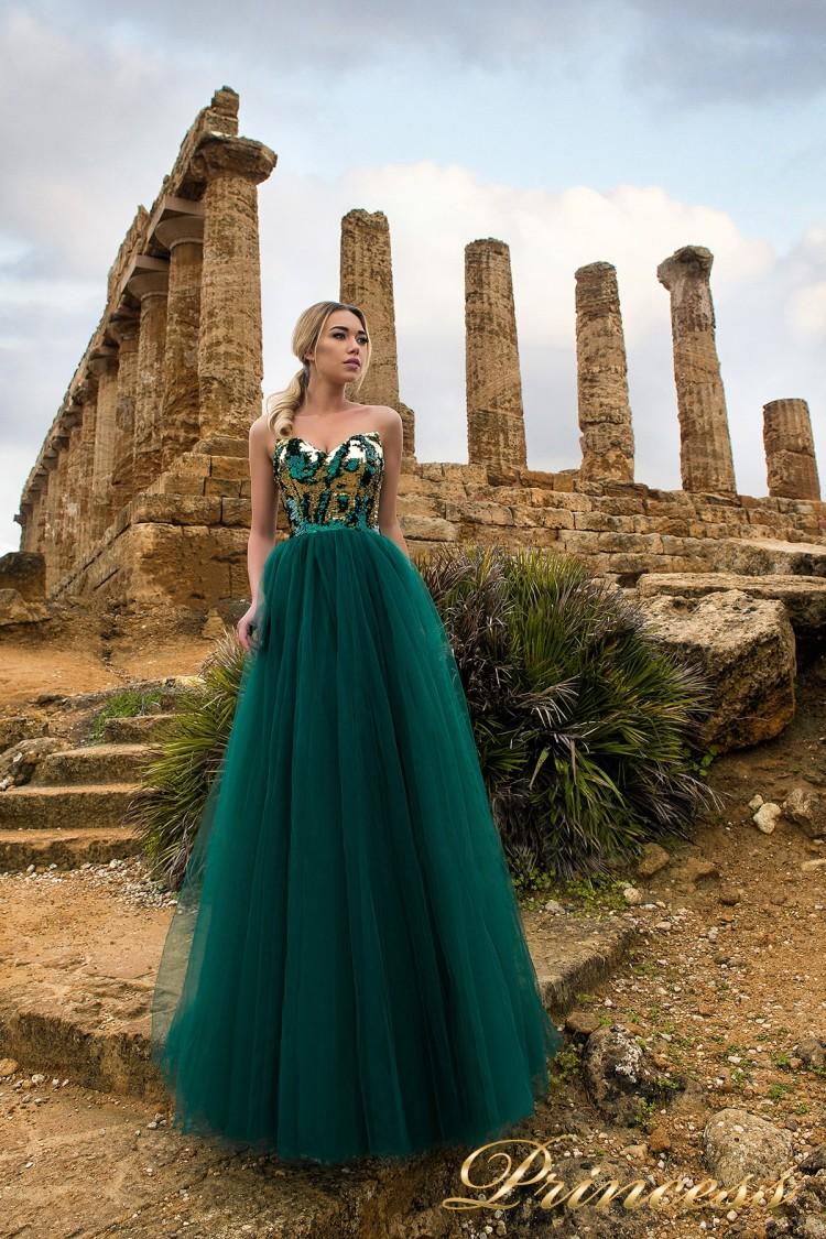Вечернее платье 9903 зеленого цвета