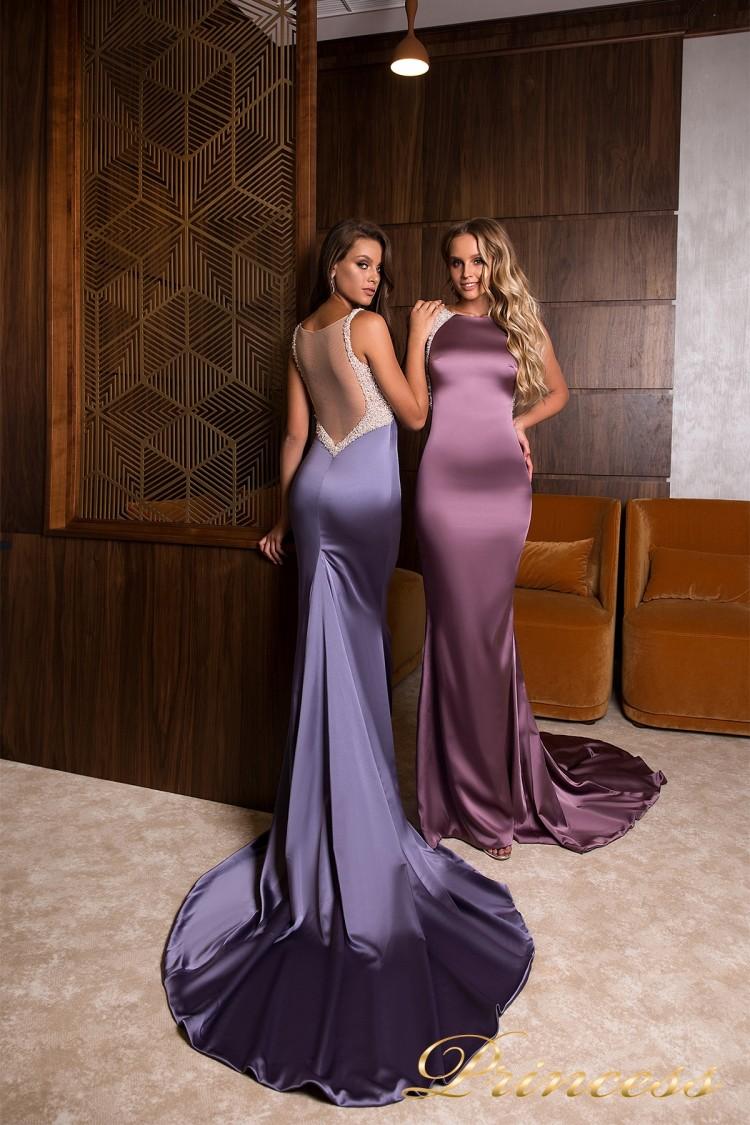 Вечернее платье 19025 сиреневого цвета