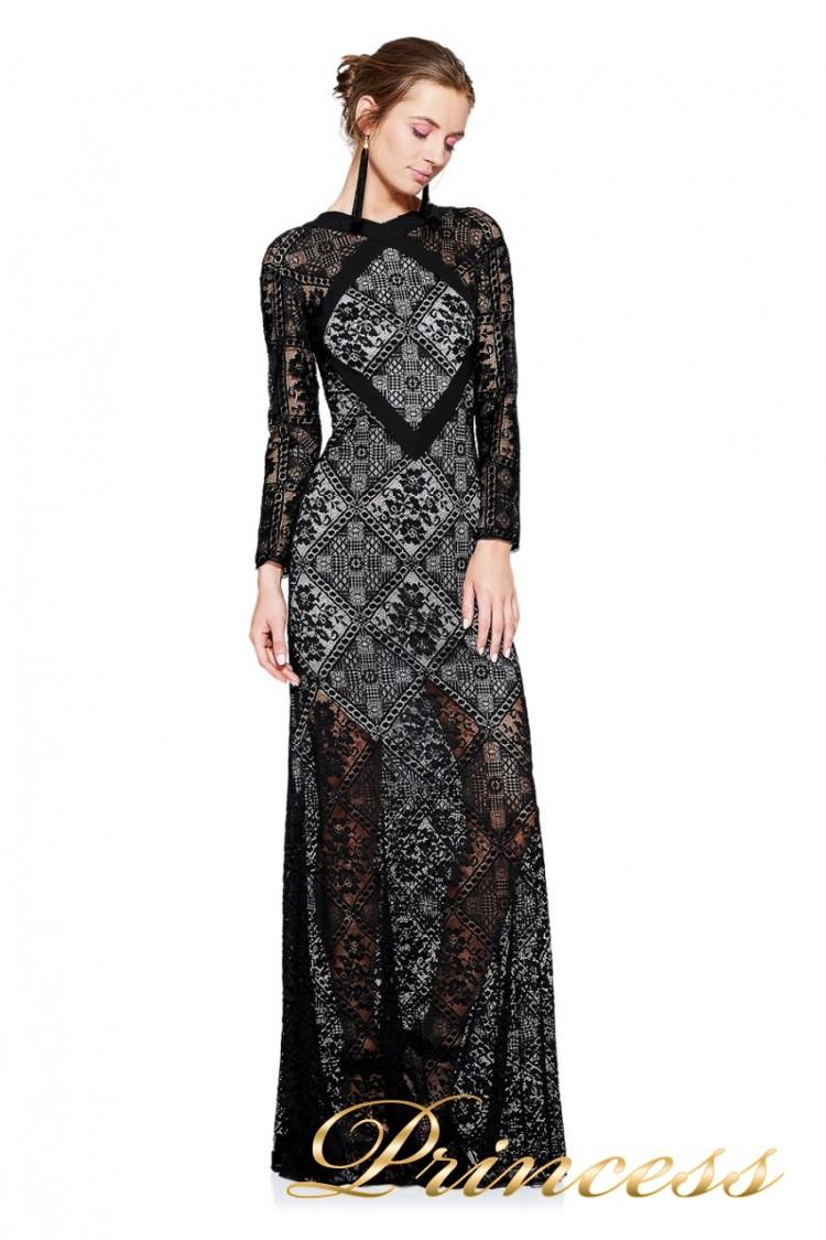 Вечернее платье TADASHI SHOJI AVS17129L  чёрного цвета