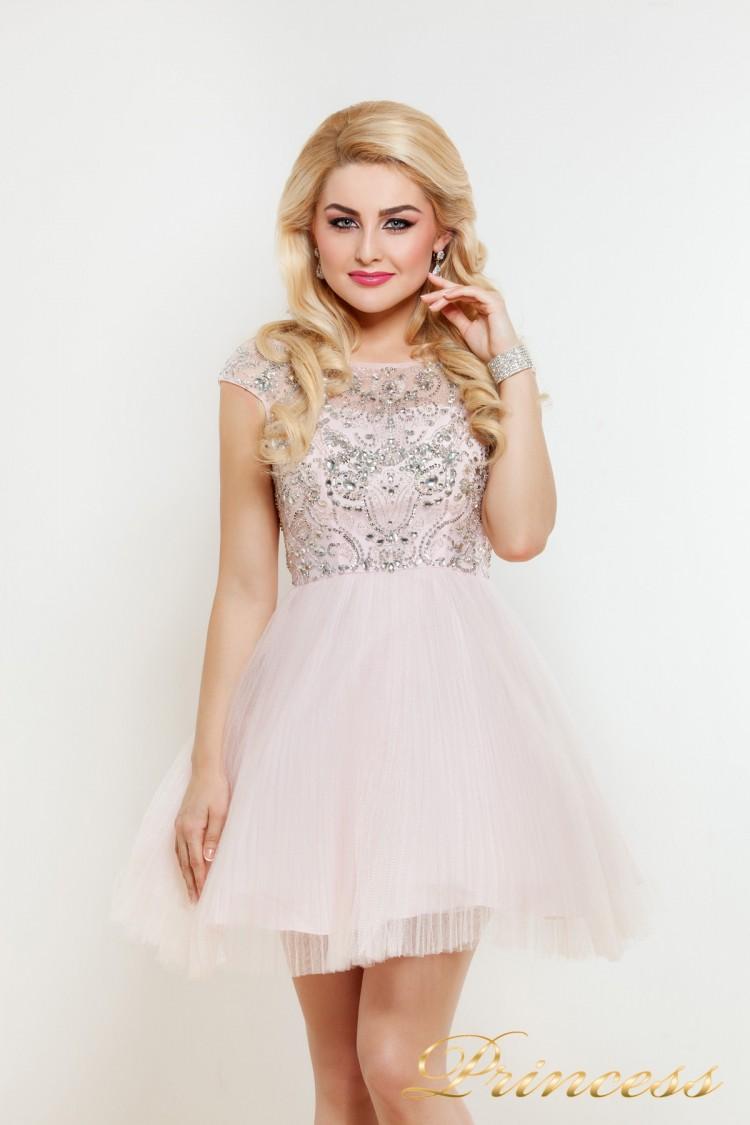 Платье на выпускной 24P розового цвета