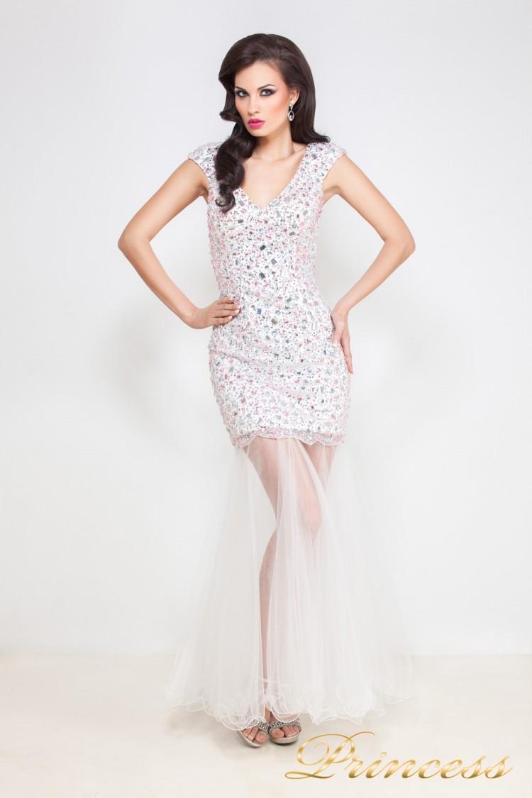 Коктейльное платье 26L розового цвета