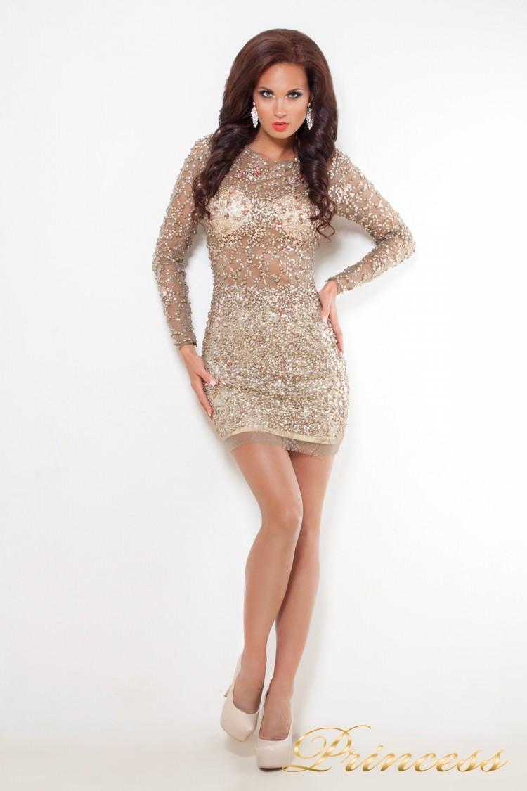 Коктейльное платье 632 пастельного цвета