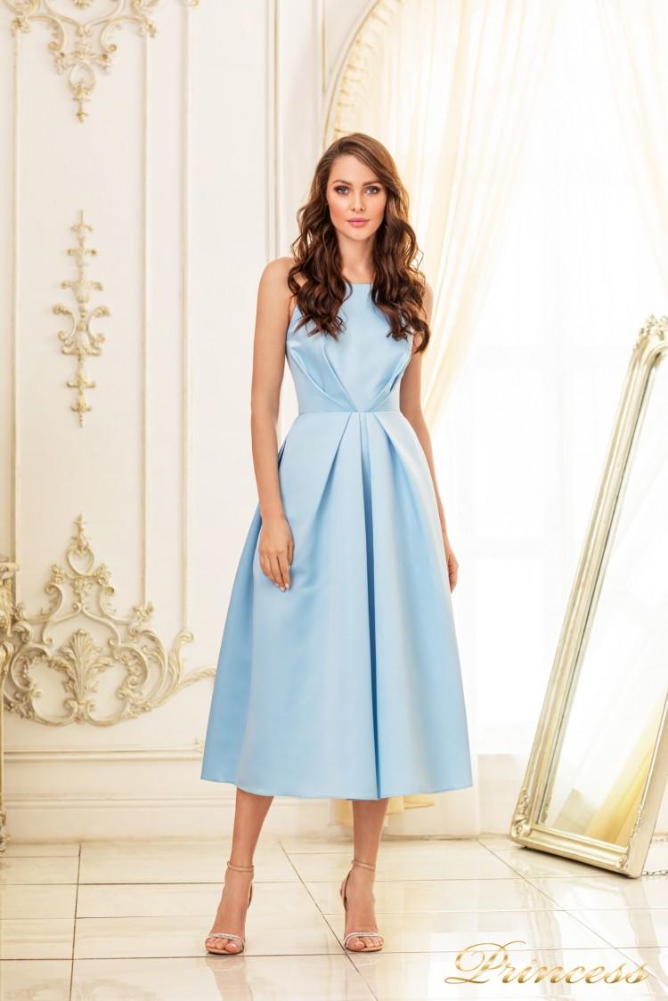 Коктейльное платье 19048-blue голубого цвета