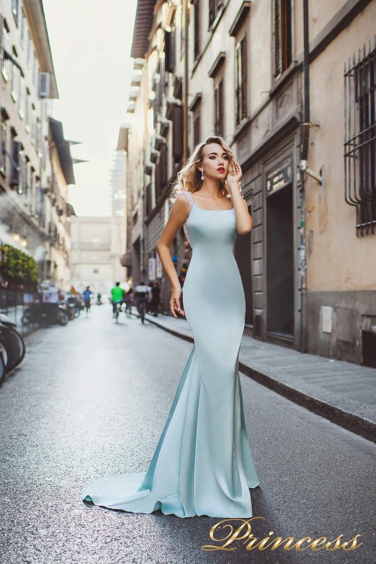 Вечернее платье 8001 пастельного цвета