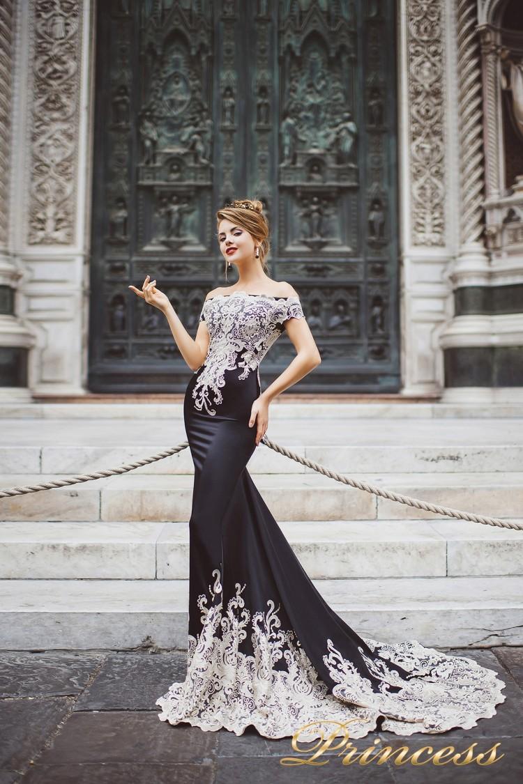 Вечернее платье 8002 чёрного цвета