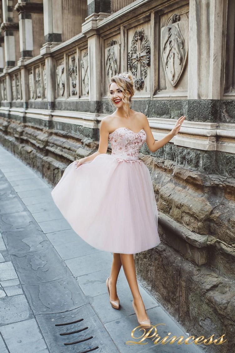 Вечернее платье 8003 розового цвета