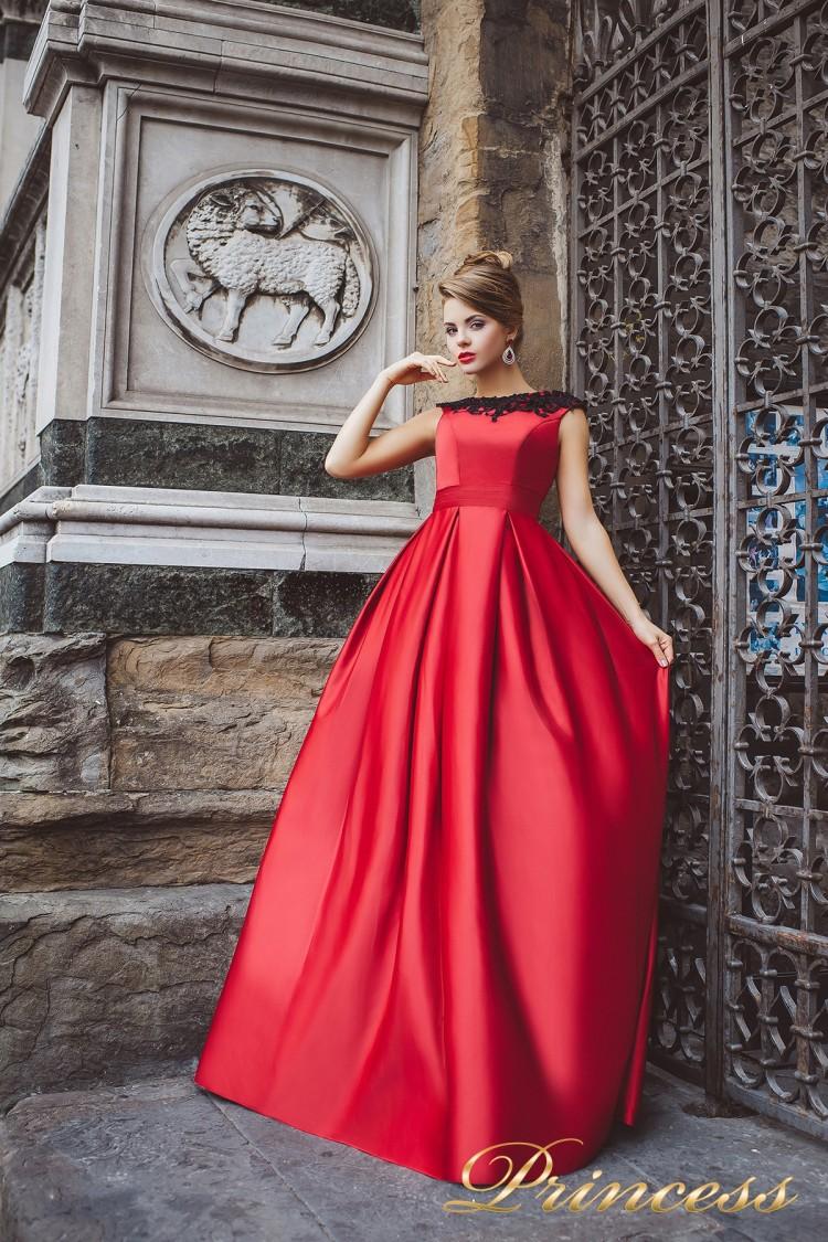 Вечернее платье 8004 красного цвета