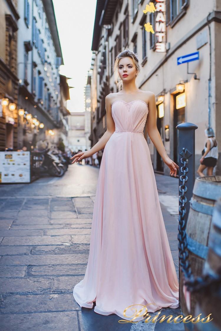 Вечернее платье 8004 розового цвета