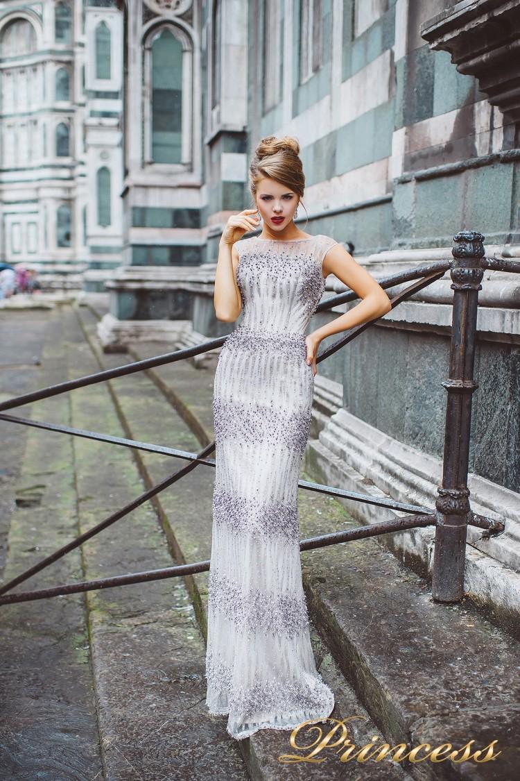 Вечернее платье 8028 сиреневого цвета