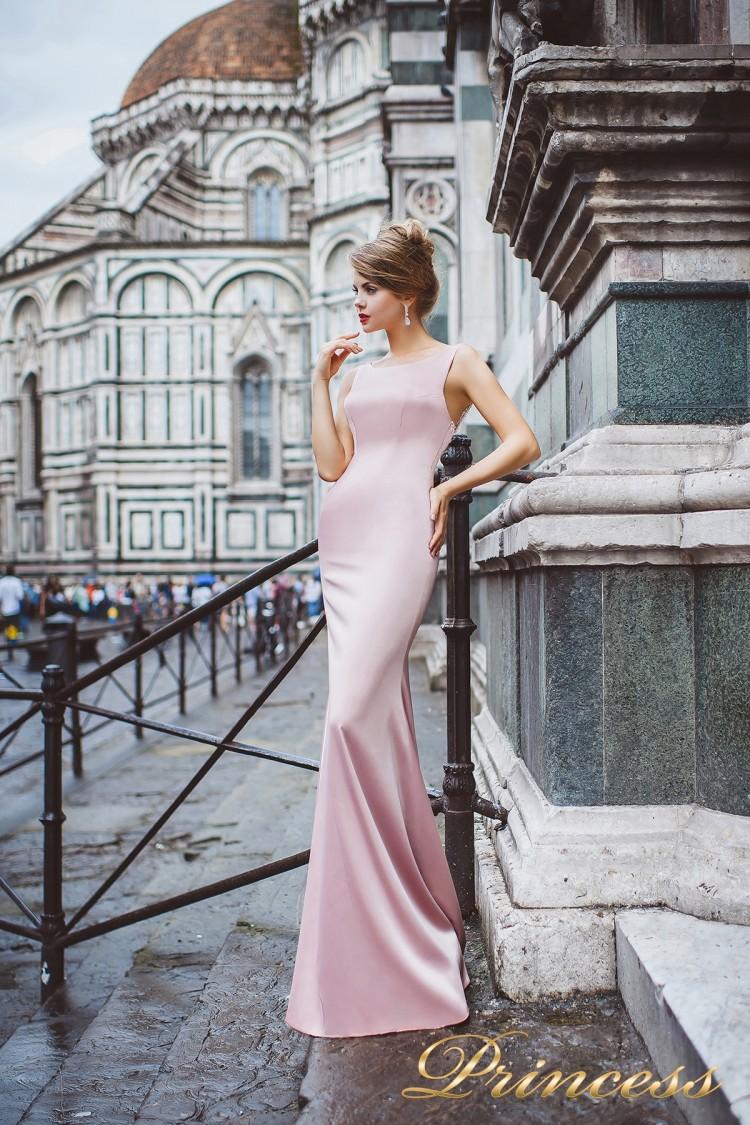 Вечернее платье 8035 пастеого цвета