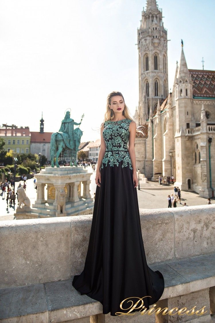 Вечернее платье 7037 чёрного цвета