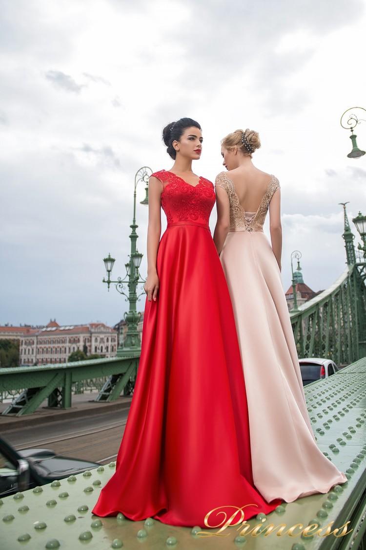 Вечернее платье 7046 цвета пудра
