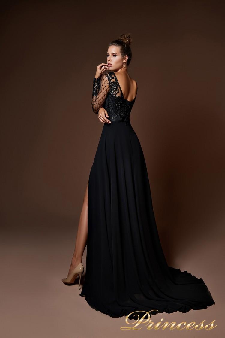 Вечернее платье 8059 чёрного цвета