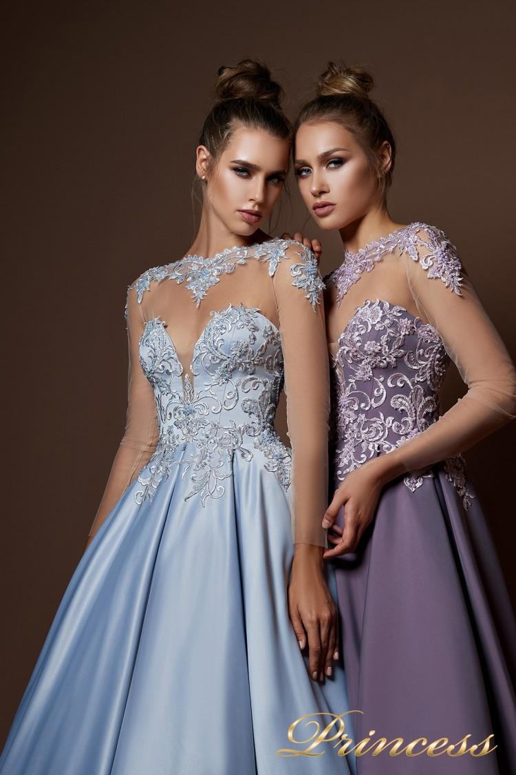 Вечернее платье 9066 сиреневого цвета
