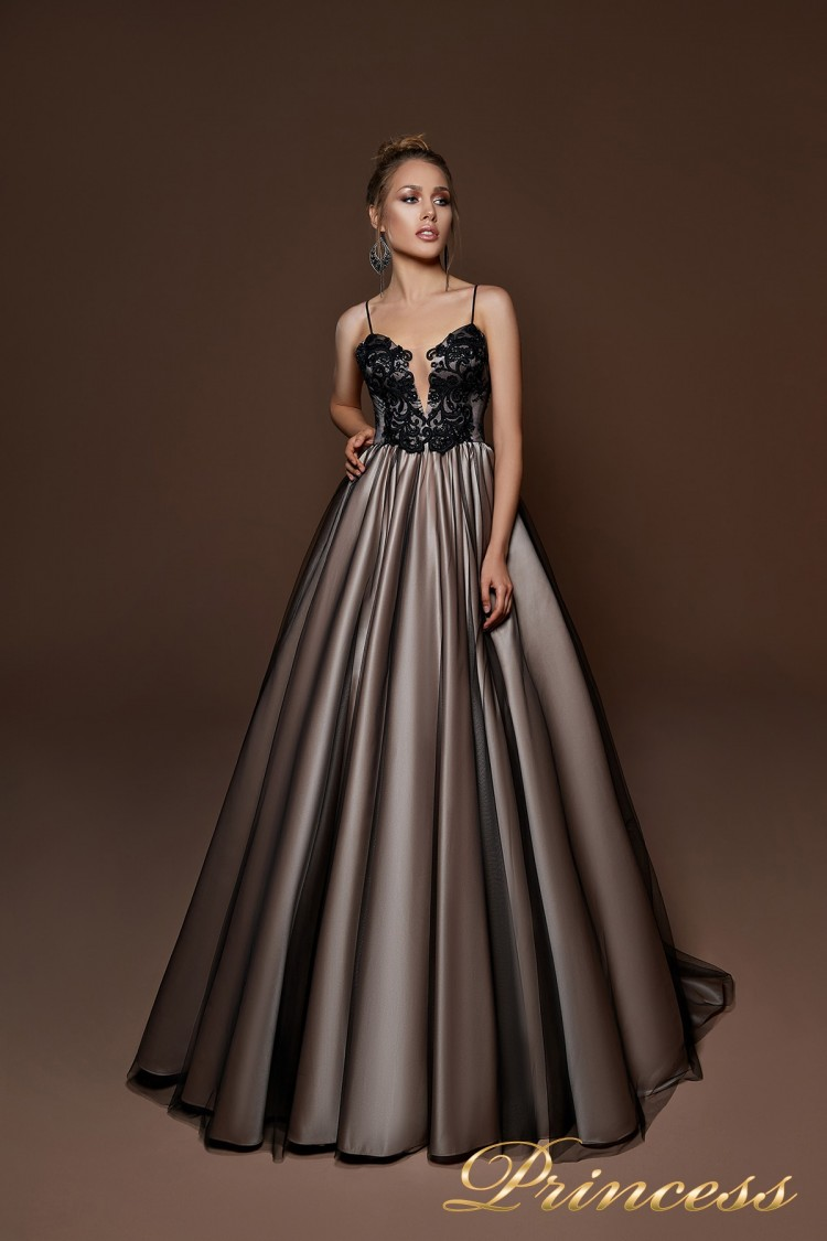 Вечернее платье 8067 чёрного цвета