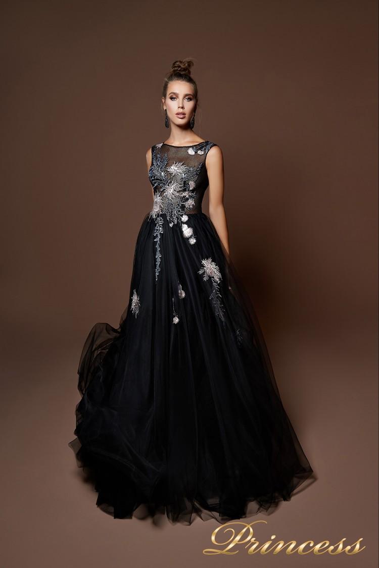 Вечернее платье 9071 чёрного цвета