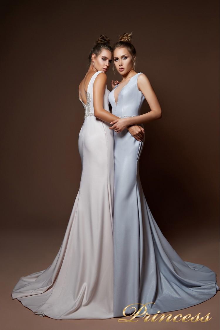 Вечернее платье 9075 голубого цвета