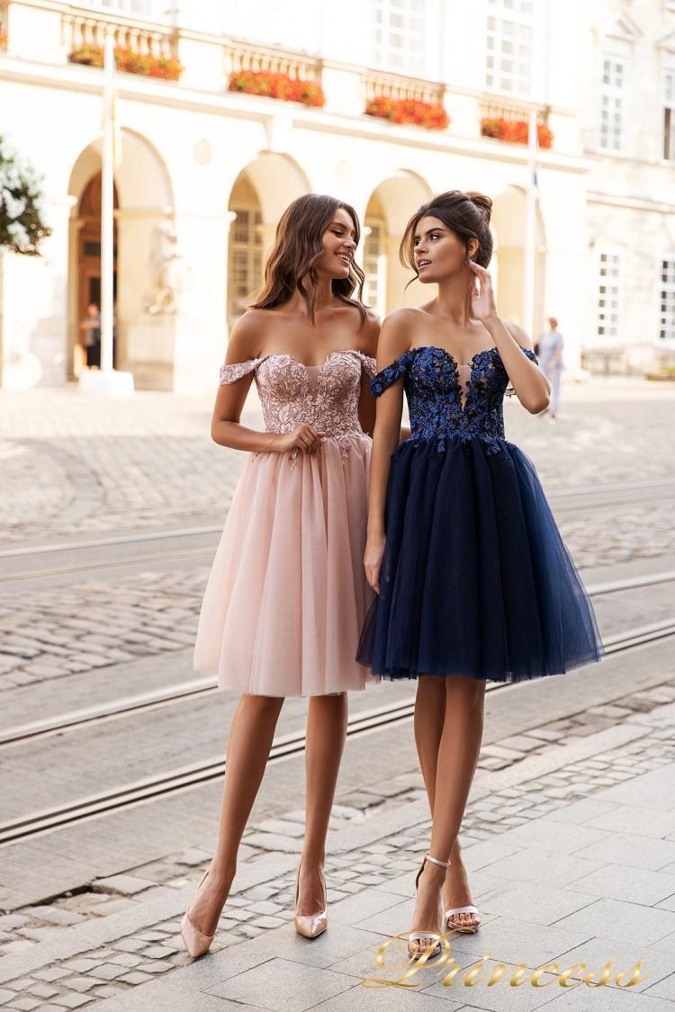 Вечернее платье 15091 . Цвет navy