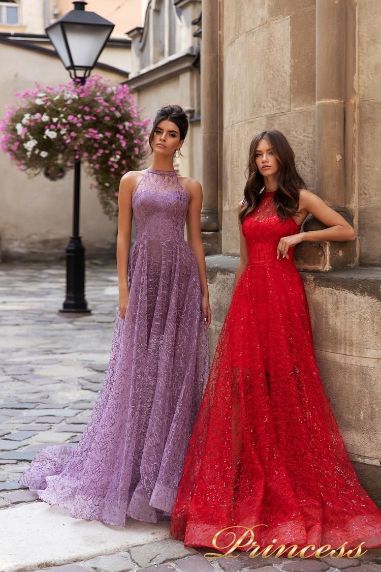 Вечернее платье 15100 красного цвета
