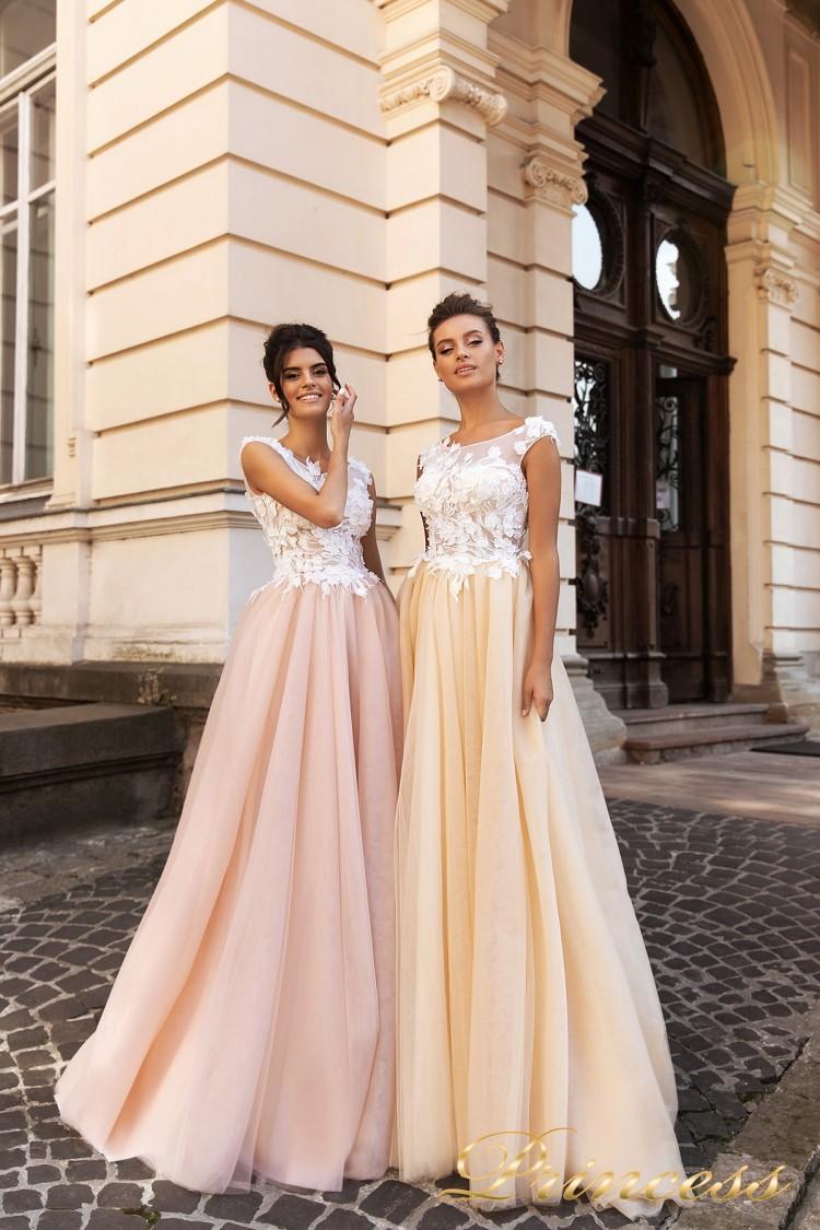 Вечернее платье 15108 розового цвета