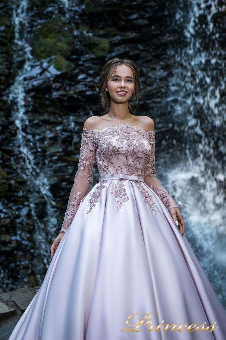 Вечернее платье 29007 пастеого цвета
