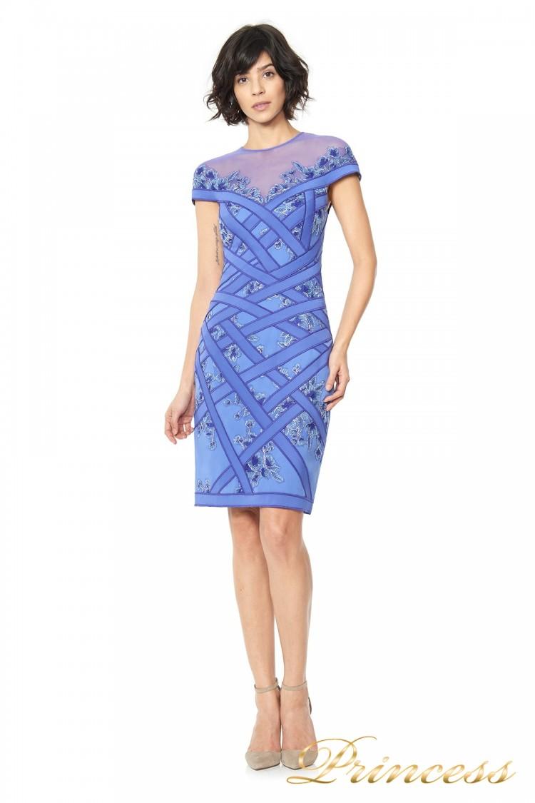 Вечернее платье TADASHI SHOJI AGD16191M синего цвета